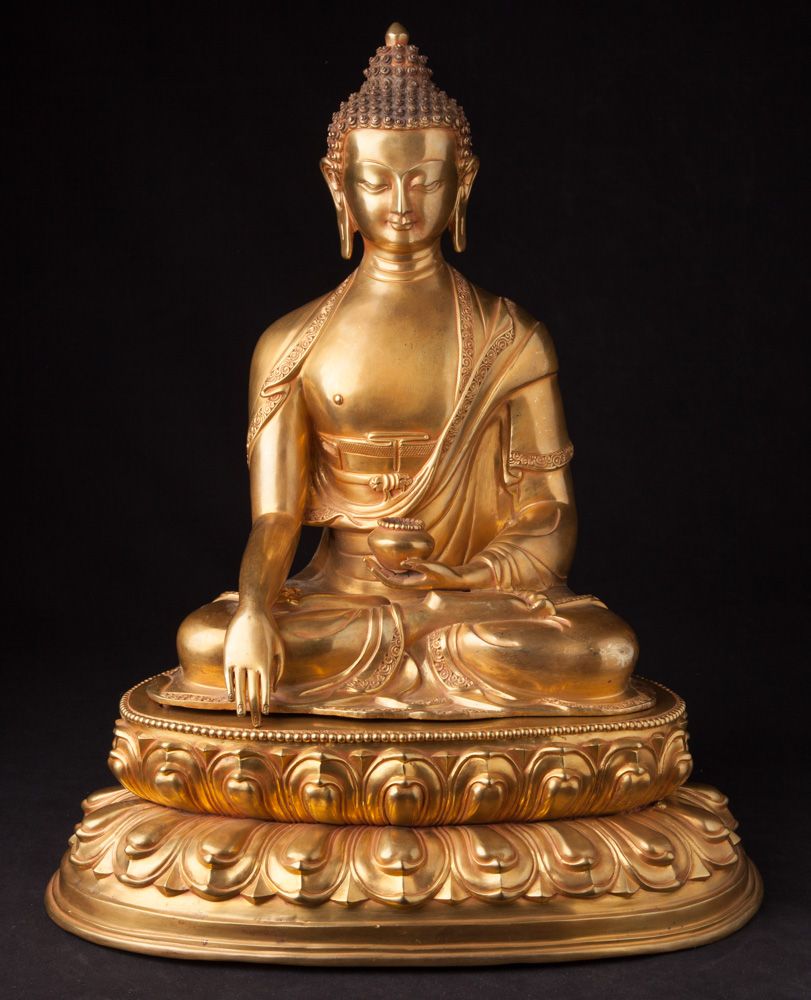 High quality bronze Nepali Buddha statue from Nepal made from Bronze