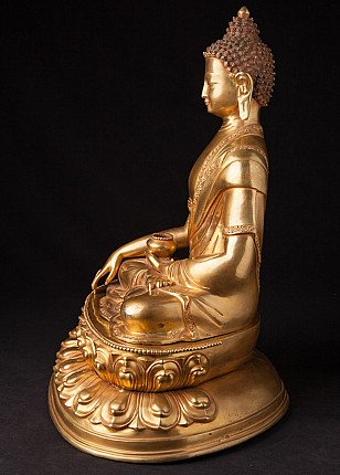 High quality bronze Nepali Buddha statue