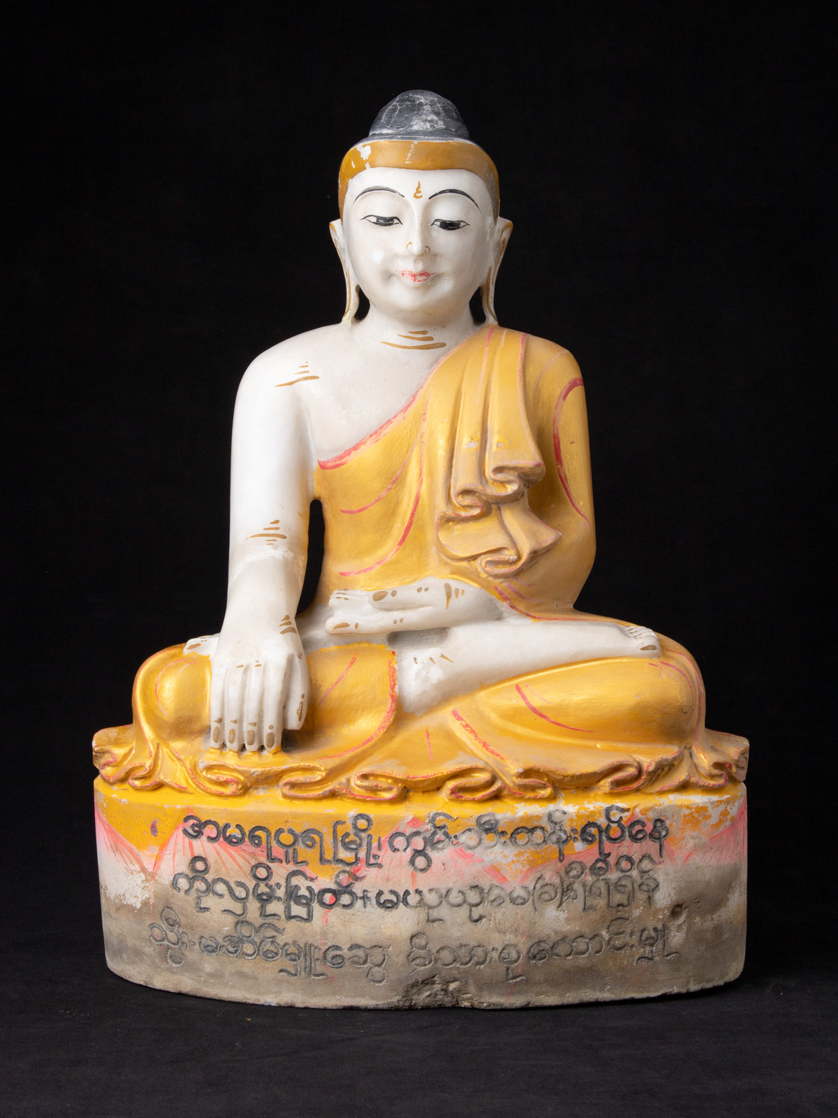 Old marble Mandalay Buddha Figur from Burma made from Marble