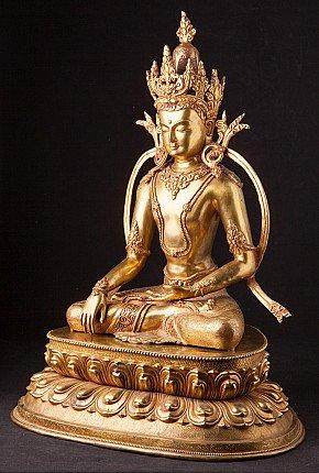 Large bronze Nepali Buddha statue