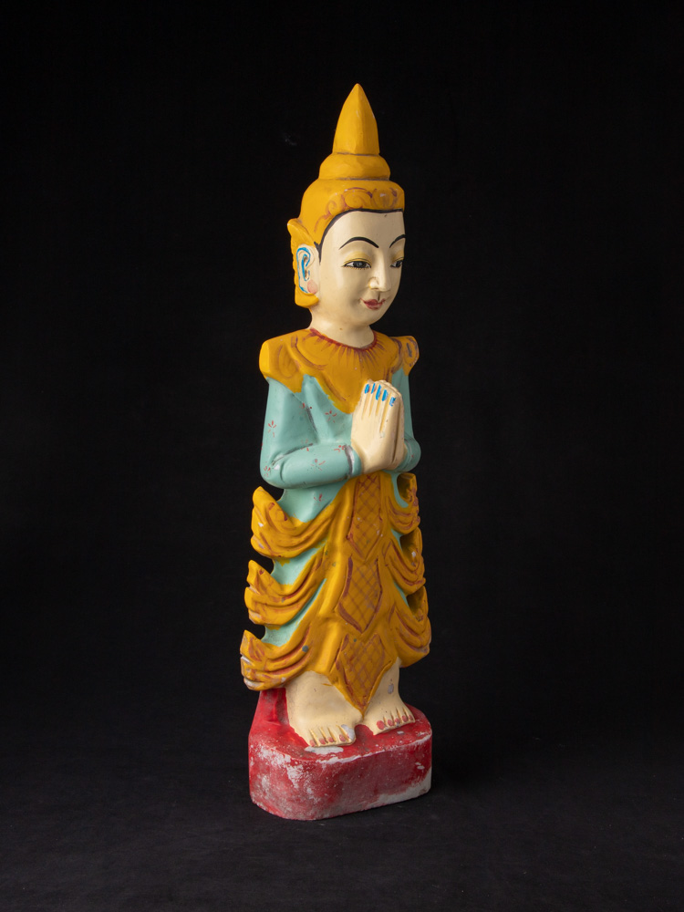 Old Burmese Nat statue from Burma made from Marble
