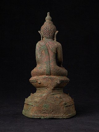 Antique bronze Ava Buddha statue