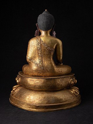 Large old bronze Nepali Buddha statue