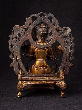 Antique Nepali Maitreya Buddha statue