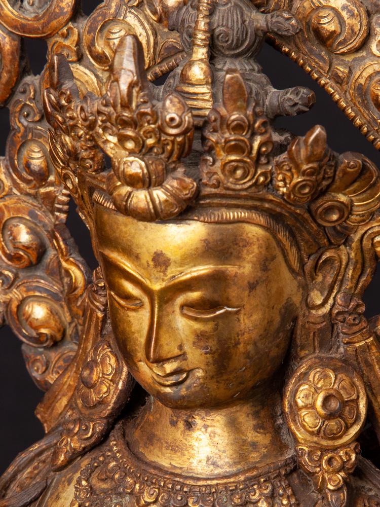 Antike Nepalesische Maitreya Buddha Figur