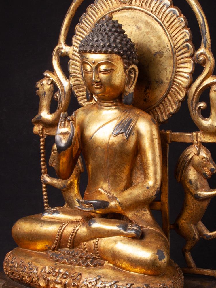 Oud Chinees bronzen Boeddhabeeld
