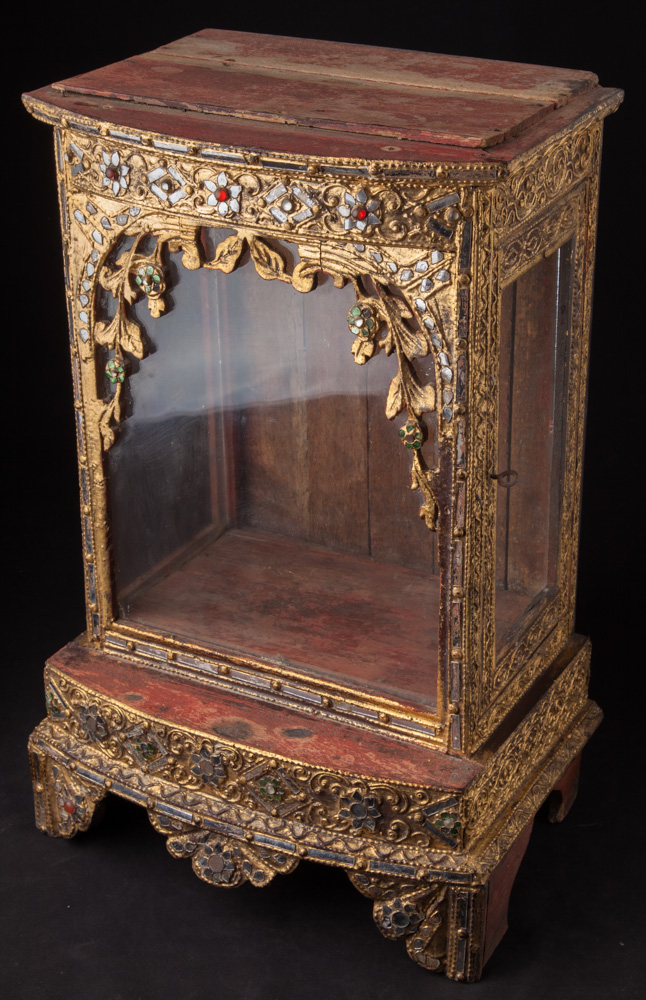 Antique wooden home shrine from Burma made from Wood