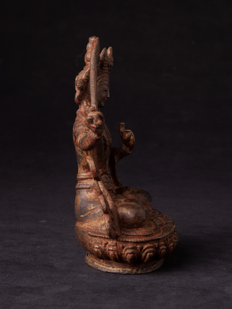 Bronze Manjushri statue from Nepal made from Bronze