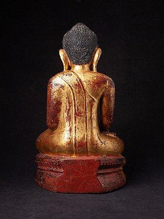 Antiek houten Ava Boeddhabeeld