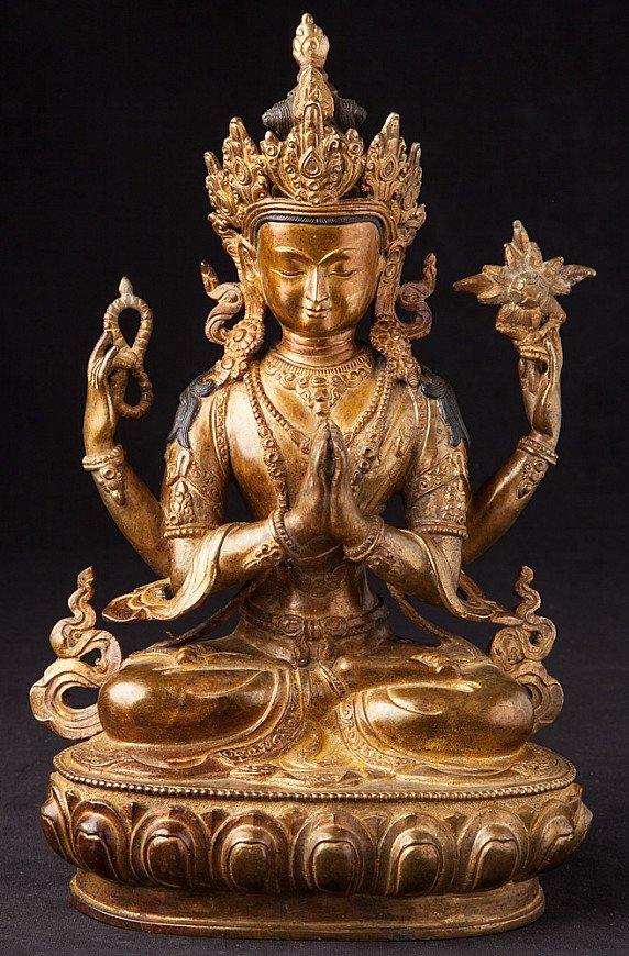 Old Nepali Chengresi statue