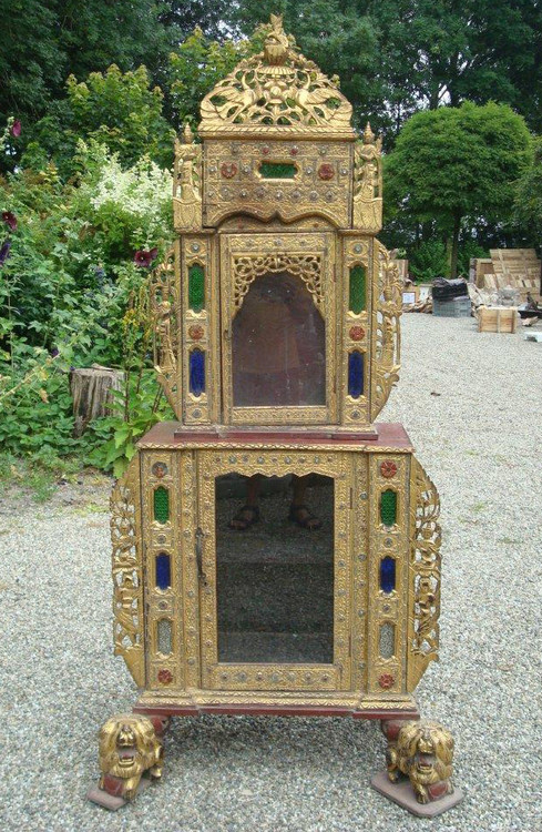 Antique Temple from Burma made from Wood