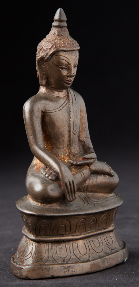 antike bronze ava buddha figur aus birma gemacht aus bronze. Black Bedroom Furniture Sets. Home Design Ideas