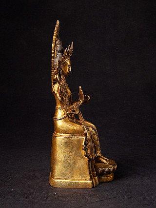 Alte bronze Maitreya Buddha Figur