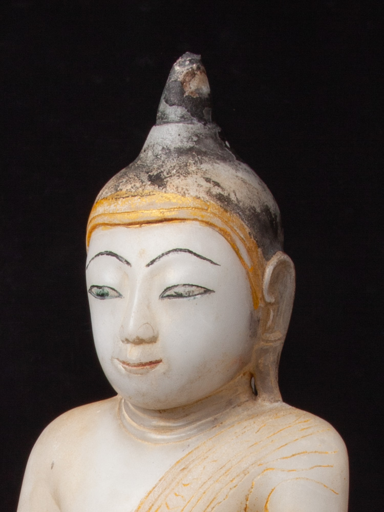 Antique alabaster Buddha statue from Burma made from Marble