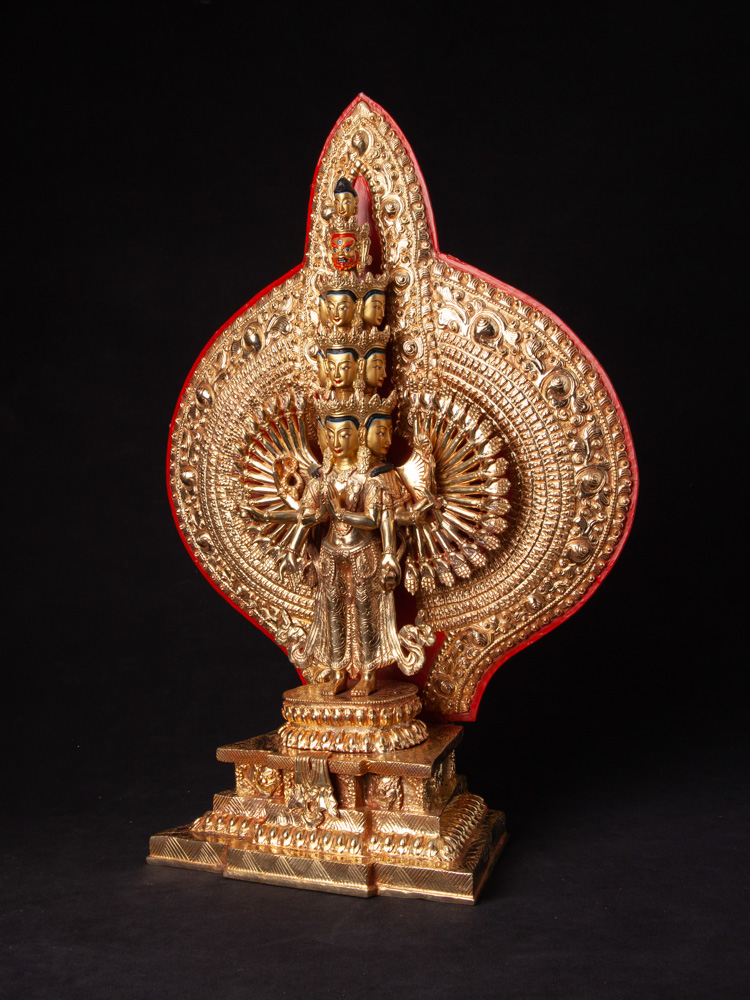 High quality bronze Avalokiteshvara statue from Nepal made from Bronze