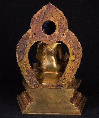 High quality Nepali bronze Medicine Buddha