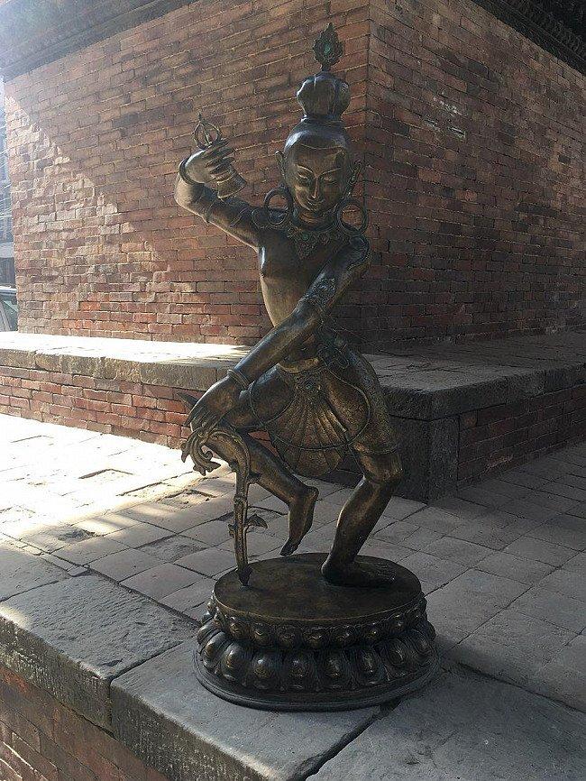 Large old bronze Bodhisattva statue