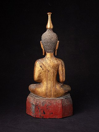 Antique wooden Laos Buddha statue