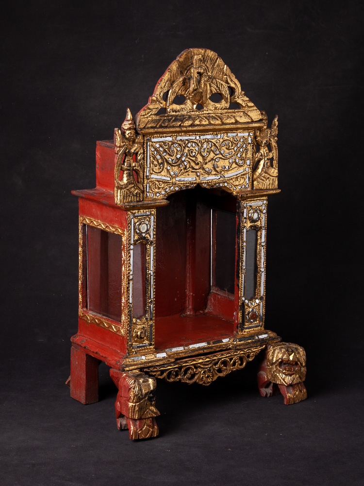 Antique Burmese home shrine from Burma made from Wood