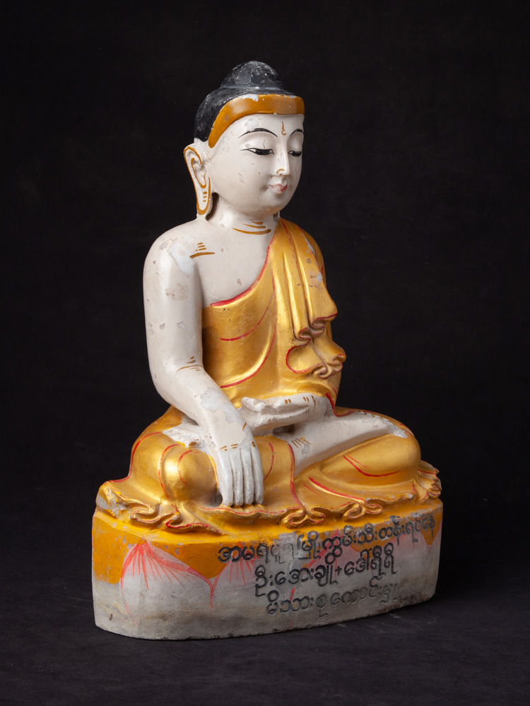 Old marble Buddha statue