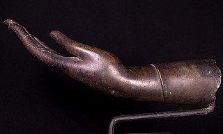 Old bronze Buddha hand