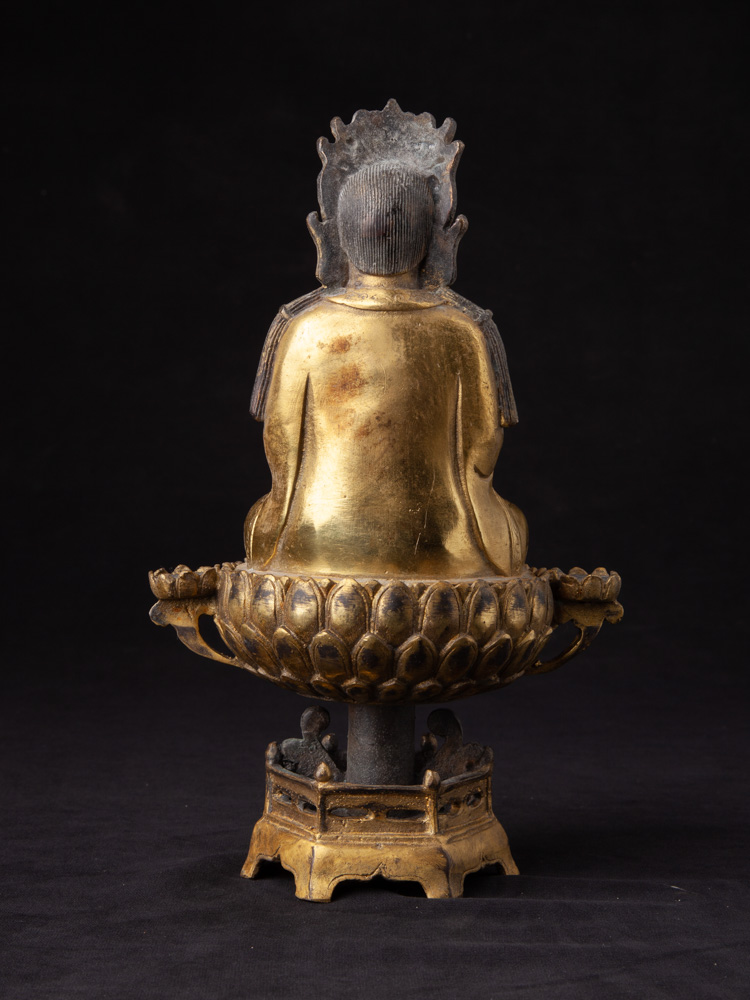 Chinese bronze Guan Yin statue