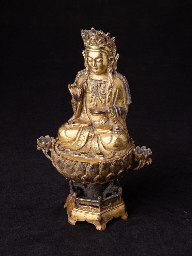 Chinese bronze Guan Yin statue from China made from Bronze