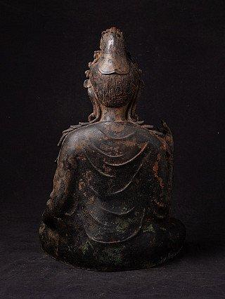 Antiek bronzen Kwan Yin beeld