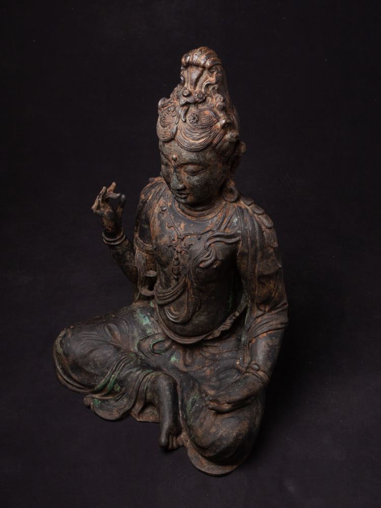 Antique bronze Guan Yin statue from Burma made from Bronze