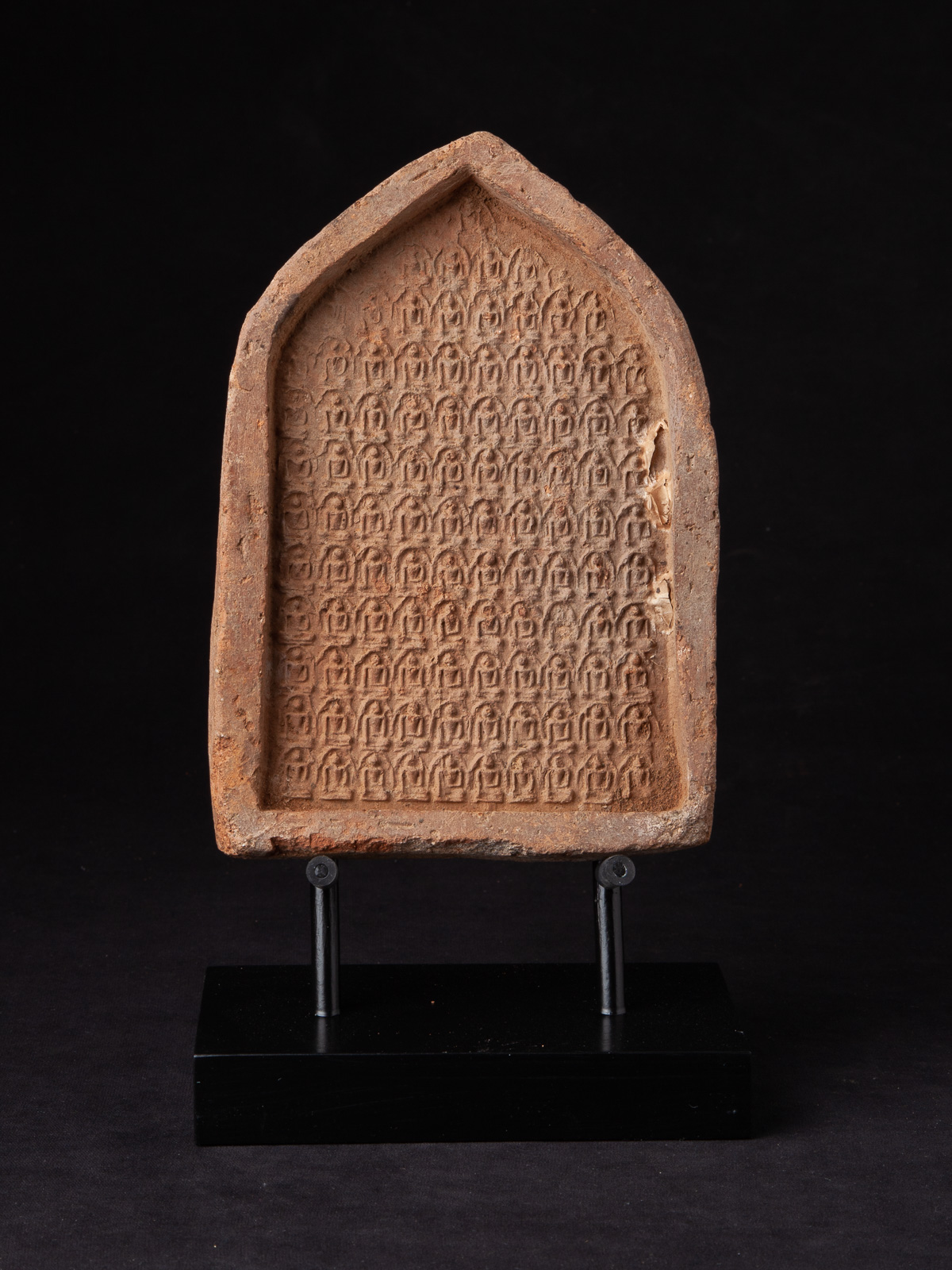 12th century Pagan Votive Tablet from Burma made from Clay / Pottery