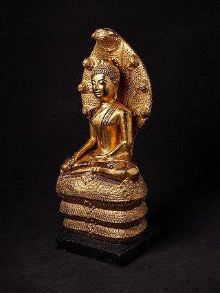 Antique bronze Khmer Buddha statue