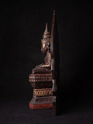 Antiek houten Mon Boeddhabeeld