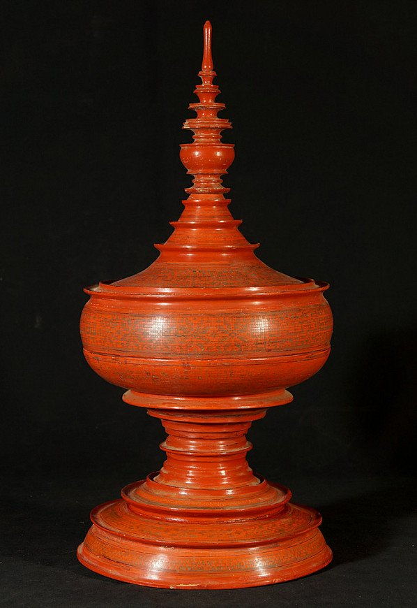 Antique red offering vessel
