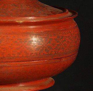Antique red offering vessel