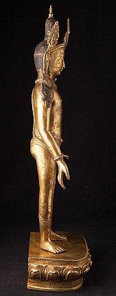 Old large bronze Lokeshor statue