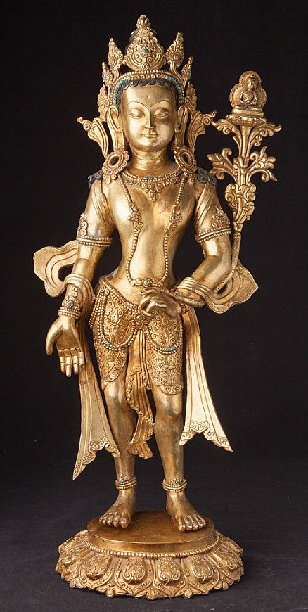 Oude bronzen Bodhisattva