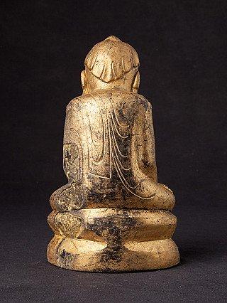 Antike Birmanische Lotus Buddha Figur