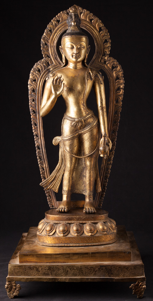 Large antique Nepali Lokeshor statue from Nepal