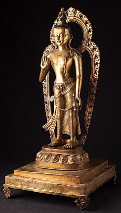 Large antique Nepali Lokeshor statue