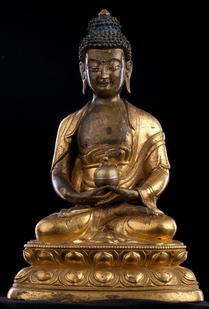 Antique Sino-Tibetan Buddha statue from Tibet