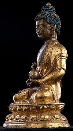 Antique Sino-Tibetan Buddha statue