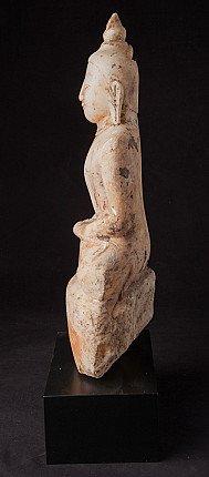 Antiek Birmees alabaster Boeddhabeeld