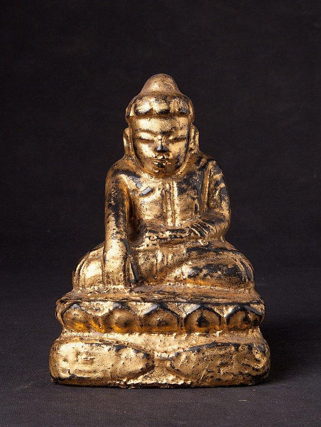 Antique wooden Lotus Buddha statue