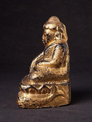 Antieke houten Lotus Boeddha