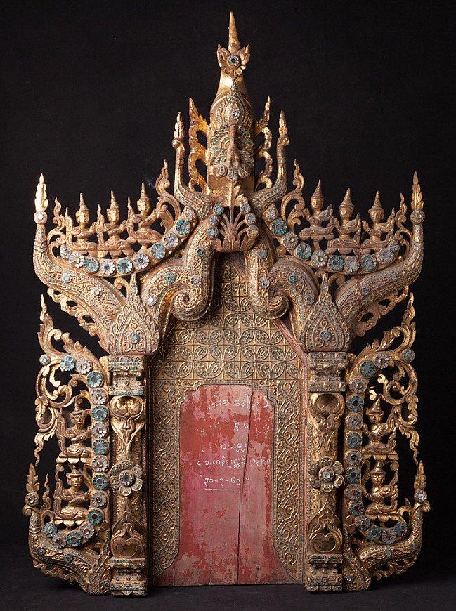 Antique Burmese Temple panel