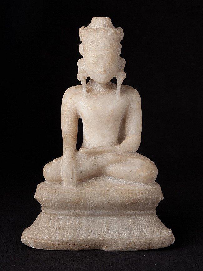 18th century alabaster Buddha statue