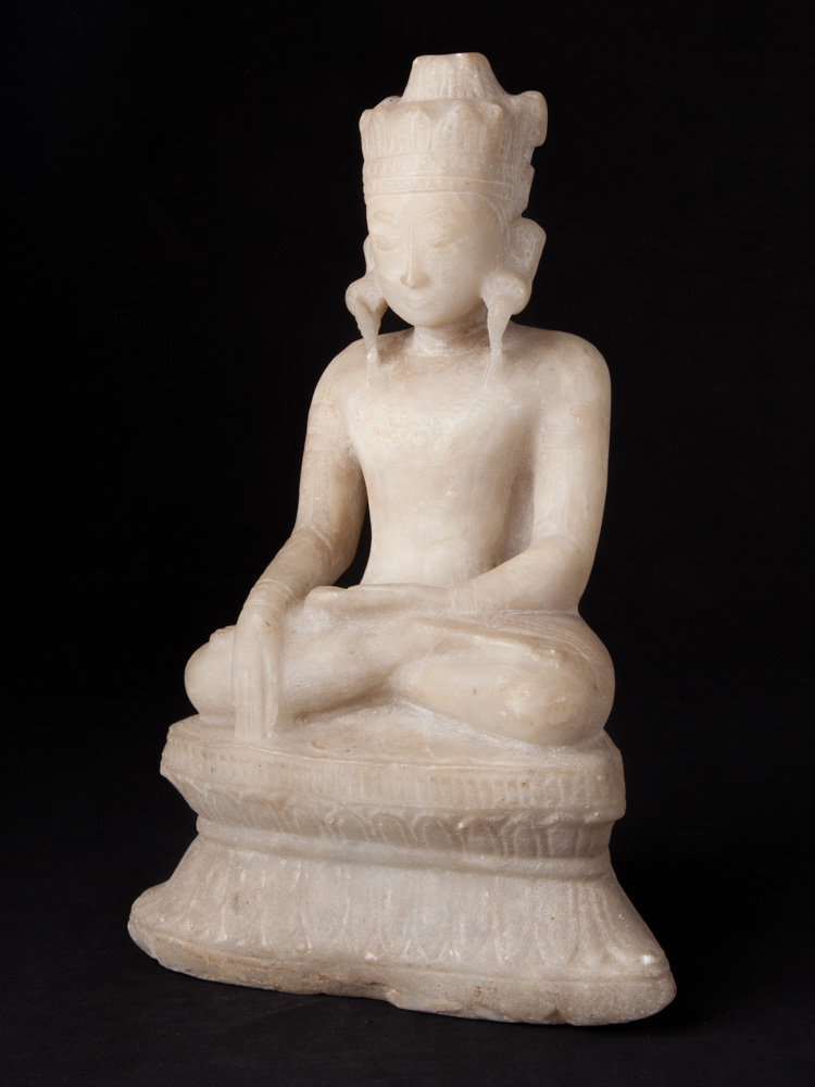 18th century alabaster Buddha statue from Burma made from Marble