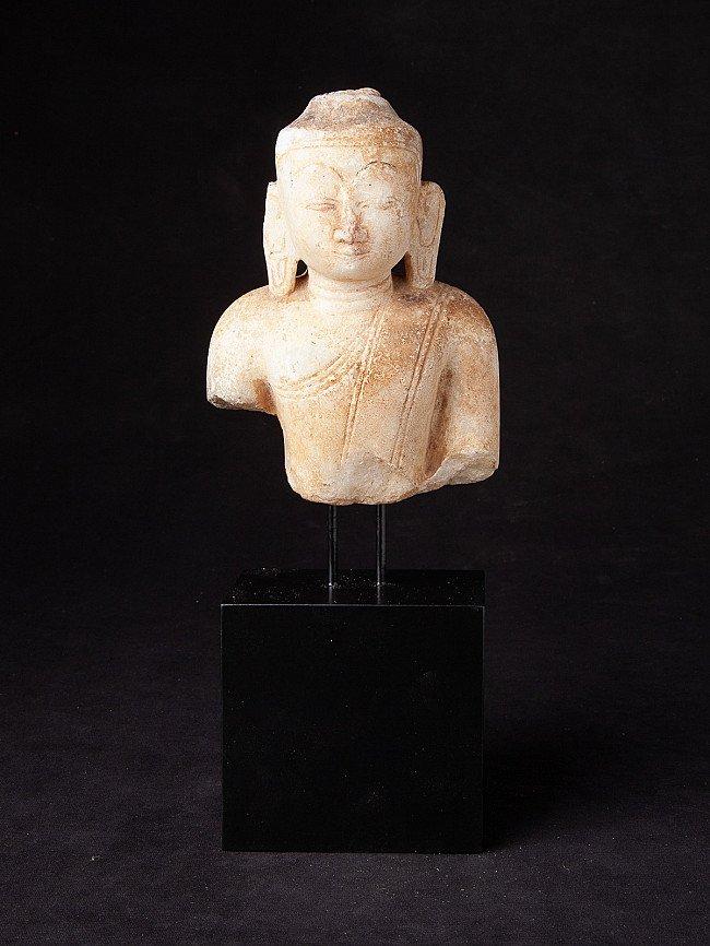Antiek marmeren Boeddhahoofd