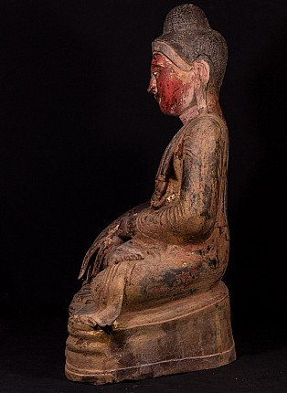 Large antique Mandalay Buddha statue