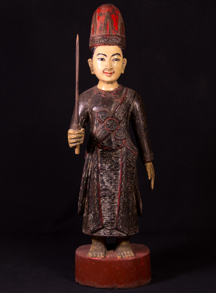 Antique standing Mandalay Buddha statue from Burma